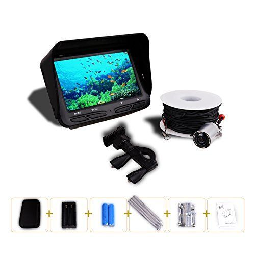 Gobing Fishing Finder , 4.3 inch TFT LCD Fishing Underwater Camera 140 Degree Wide Angle Lens Monitor for Boat,Kayak,Ocean,Ice,Lake Fishing  http://fishingrodsreelsandgear.com/product/gobing-fishing-finder-4-3-inch-tft-lcd-fishing-underwater-camera-140-degree-wide-angle-lens-monitor-for-boatkayakoceanicelake-fishing/  4.3 inch TFT LCD ,HD 640*480 (30F/S) Cold-resistant, waterproof and 30 meters pull-resistant cables Waterproof ,140 degree wide angle and 6pcs infrared LED for
