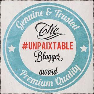 Κυριακή στο σπίτι... : #unpaixtable Blogger Award