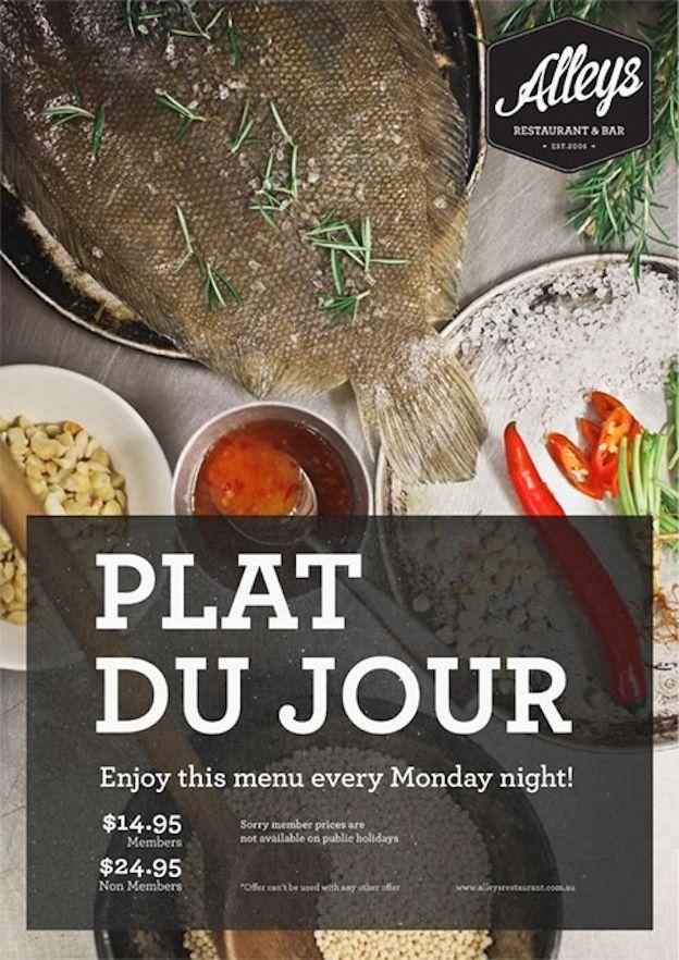 restaurant menu design food photography
