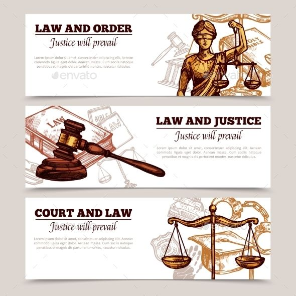 Horizontal Law Banners Banner Law School Illustration