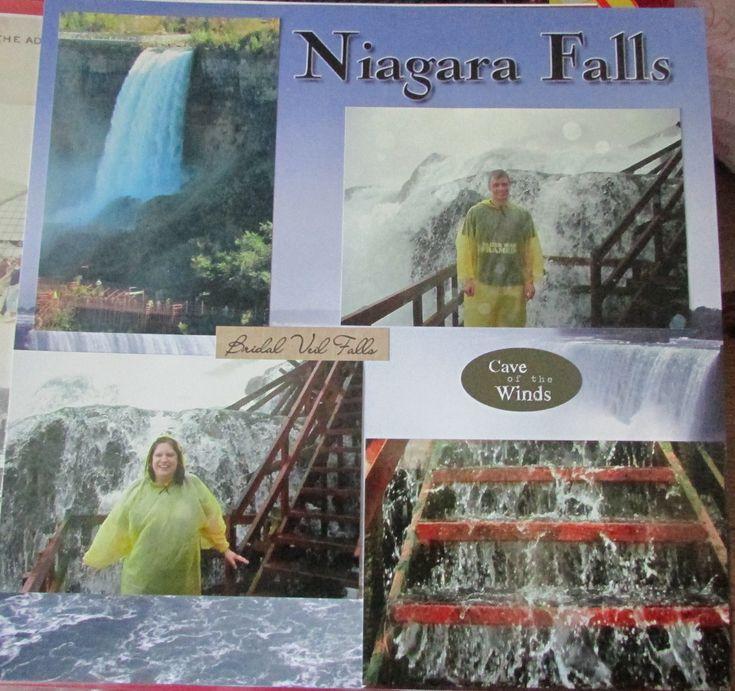 23 best niagara falls scrapbook images on pinterest for Waterfall design in scrapbook