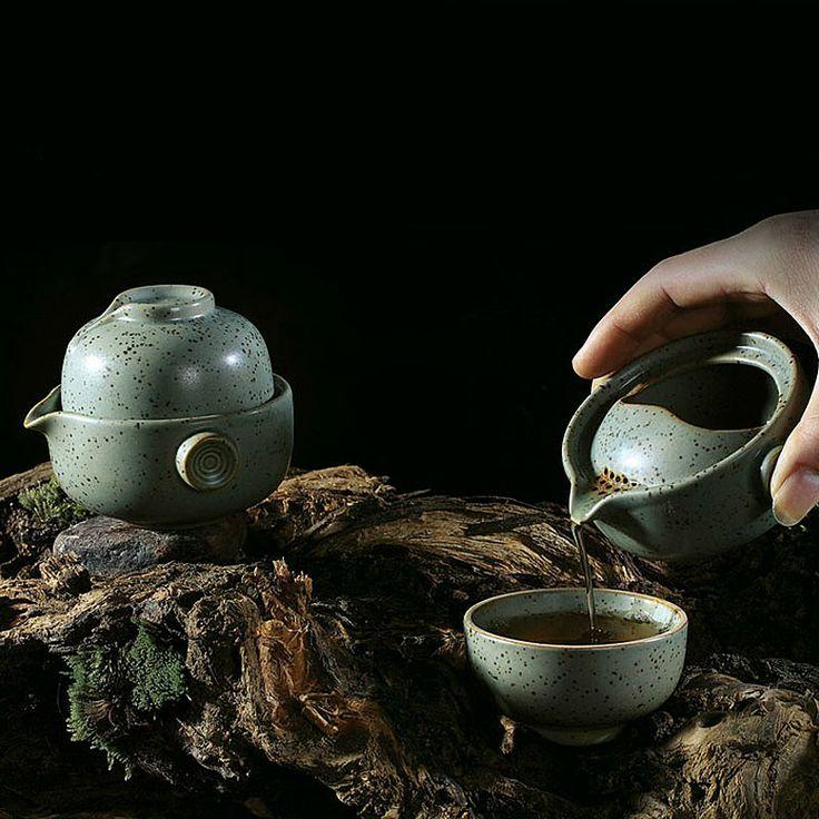 Mr.Zhang-Straw-burning Pottery Quick Tea Set-Helm - Portable Tea Set - Teaware Enjoy / Slow / Green