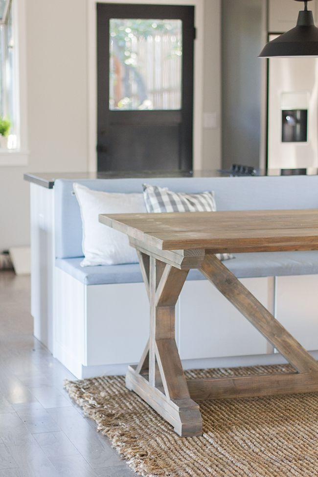 Kitchen Chronicles: Building a Fancy X Farmhouse Table | Jenna Sue Design Blog | Jenna's slightly larger version of Ana White's farmhouse table