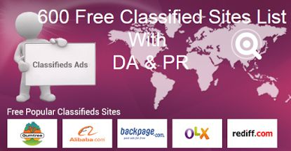 600+ Top Free Classified Ad Posting Sites List With Details - Location, PR