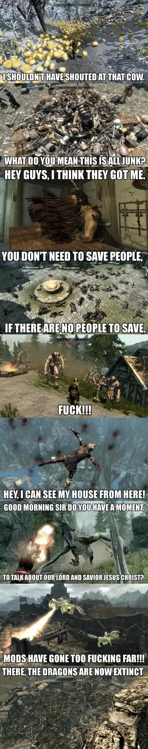 Oh Skyrim, You Silly Game.