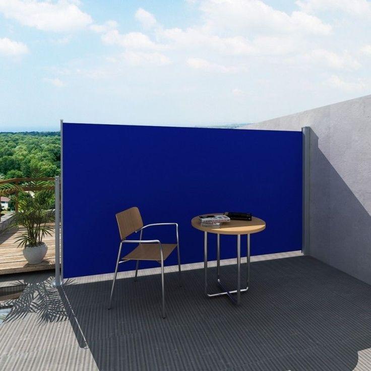 Garden Side Awning Large Modern Big Patio Retractable Wall Sun Shade Wind Screen #GardenSideAwning