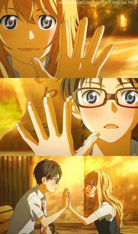 shigatsu Kimi no uso - y asi comenzó un nuevo mundo para mi....... tocaste mi mano y ahora estamos conectados -kouse Arima