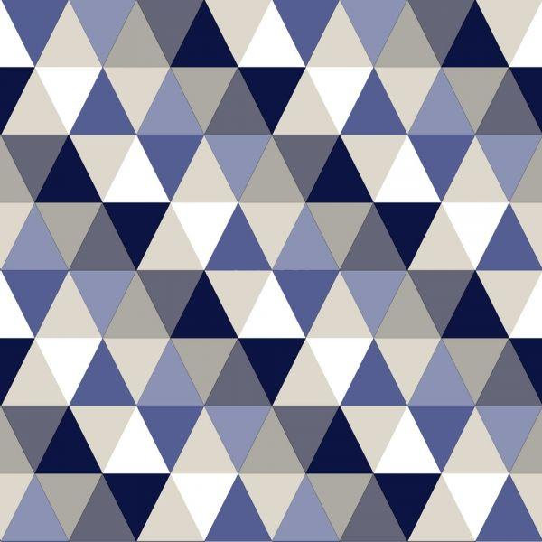 Tapet i dova kulörer med geometriskt mönster från kollektionen Everybody Bonjour 138716. Klicka för att se fler inspirerande tapeter för ditt hem!