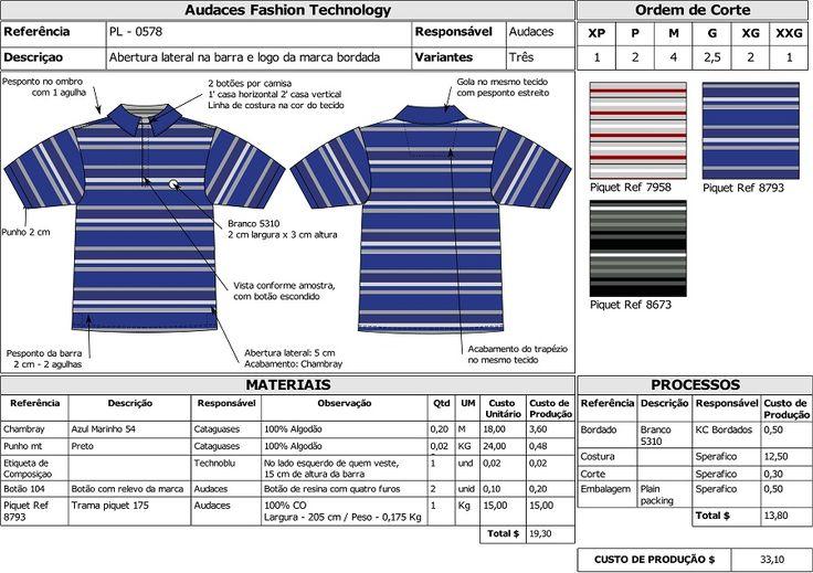 Pré-Custo da peça: Processo de criação de moda e viabilidade econômica - Industria Textil e do Vestuário - Textile Industry - Ano VII