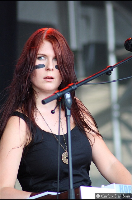 Emmi Silvennoinen ... keyboardist from ENSIFERUM ... Viking Woman Art