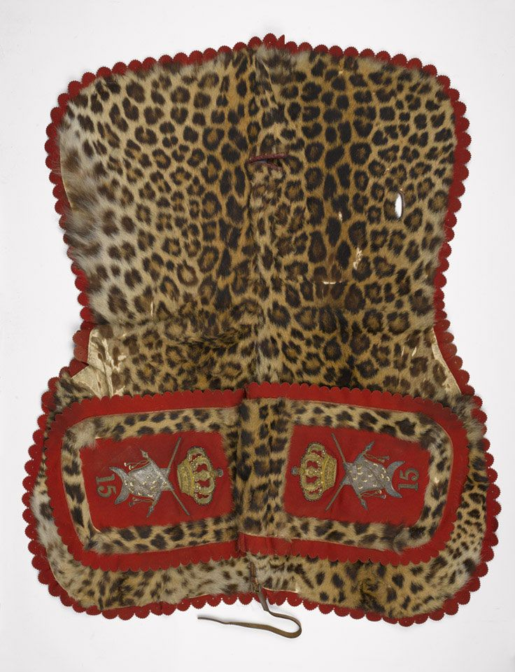 Leopard-skin flounce, 15th (King's) Hussars, 1904 (c) | Online Collection | National Army Museum, London