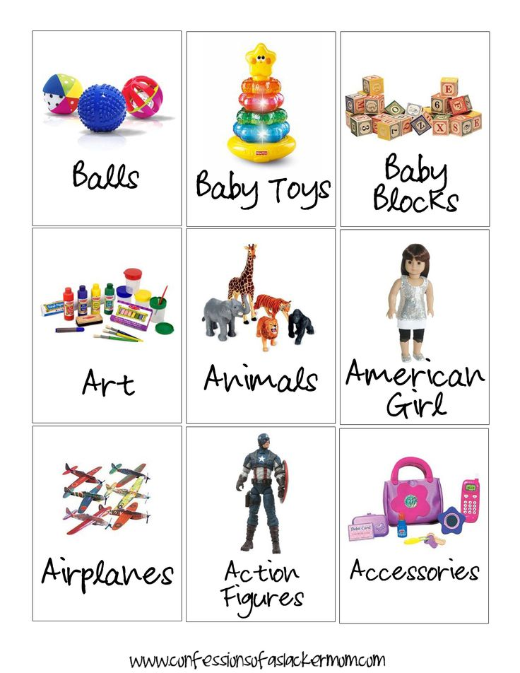 54 FREE Labels to organize kids toy storage these will go great with the trofast toy bins!