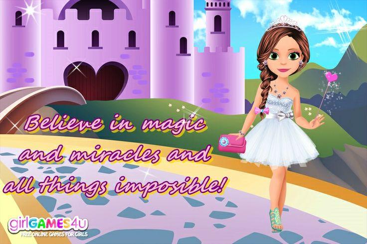 #Beautiful #magic moments! ***  #Game's link: http://www.girlgames4u.com/little-princess-magic-makeover-game.html ✿ ✿ ✿
