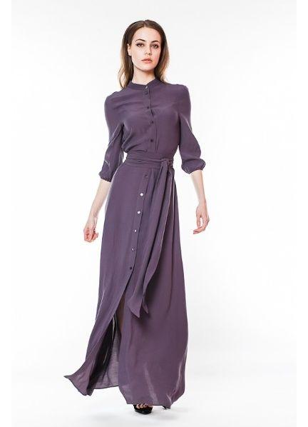 ff593d85121 Длинное платье-рубашка 2018 (53 фото)  в пол
