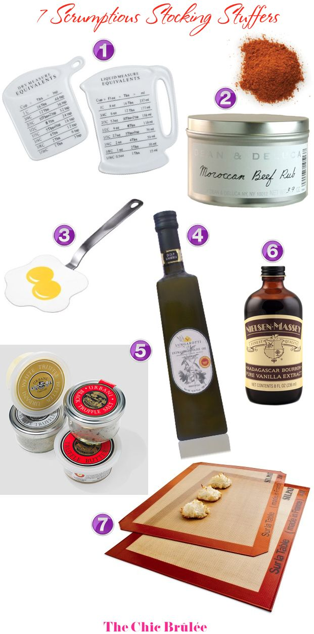 Holiday Gift Guide 2012: Check out 7 Scrumptious Stocking Stuffers for the Foodies on your List!: Foodies Gifts, Holidays Gifts Guide, Holiday Gifts, Holiday Gift Guide