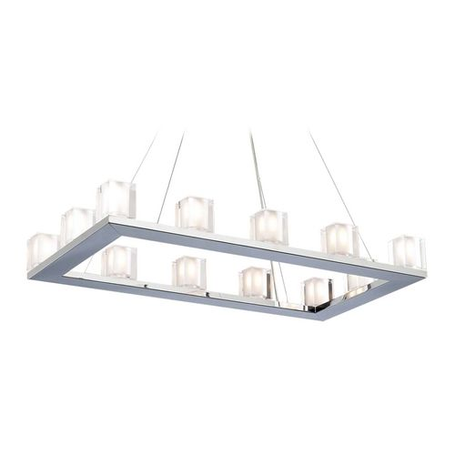 Modern Chandelier Light with Clear Glass in Polished Chrome Finish | 3488PC | Destination Lighting