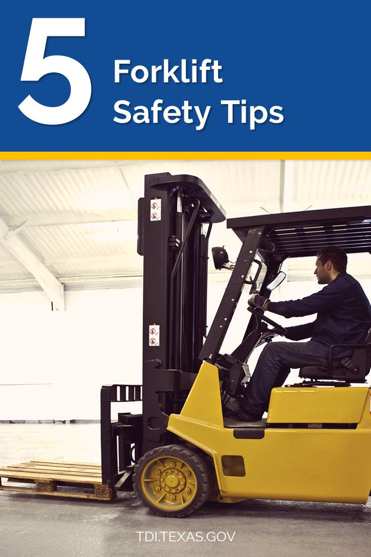 5 quick safety tips to protect employees when operating a forklift.