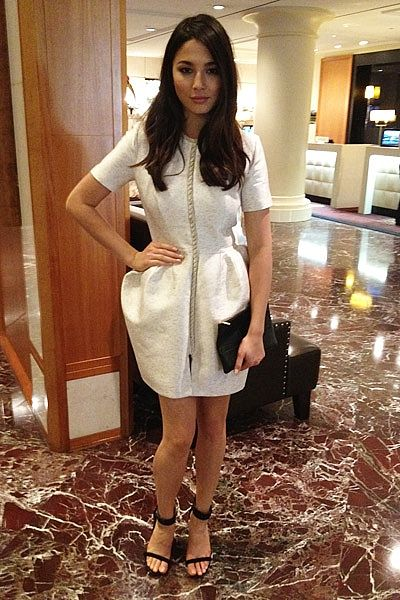 Ellery dress. Celine shoes and clutch. Ready for [last night\u0026#39;s ...