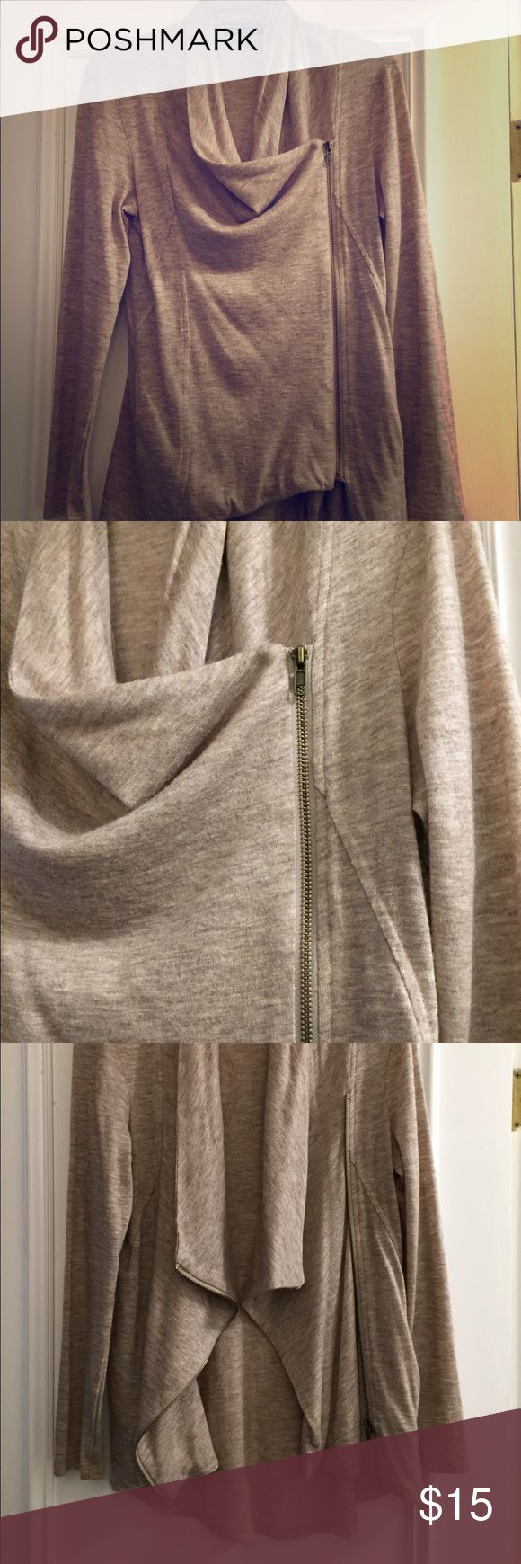 Modcloth beige zip up cardigan! Never worn! Really unique design and in like new condition. ModCloth Sweaters Cardigans