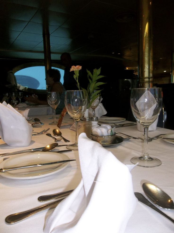 Delicious dinner is served on board Orient Queen (Louis Aura)