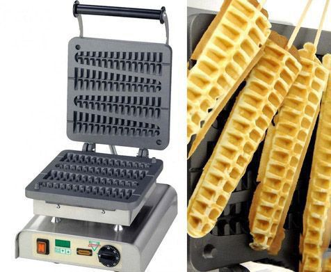 Happy Friday! It's #WaffleDay, how about making some #homemade waffles on a stick with this custom waffle iron?