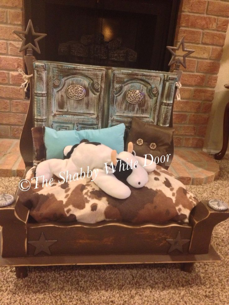 38 best custom pet beds from the shabby white door images for Southwest beds