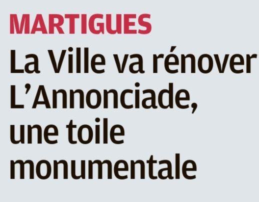 LA VILLE VA RÉNOVER LE TABLEAU DE L'ANNONCIATION DE SAINT GENEST