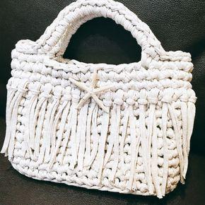 3時間で編めるTシャツヤーンのバッグの作り方 編み物 編み物・手芸・ソーイング ハンドメイド・手芸レシピならアトリエ