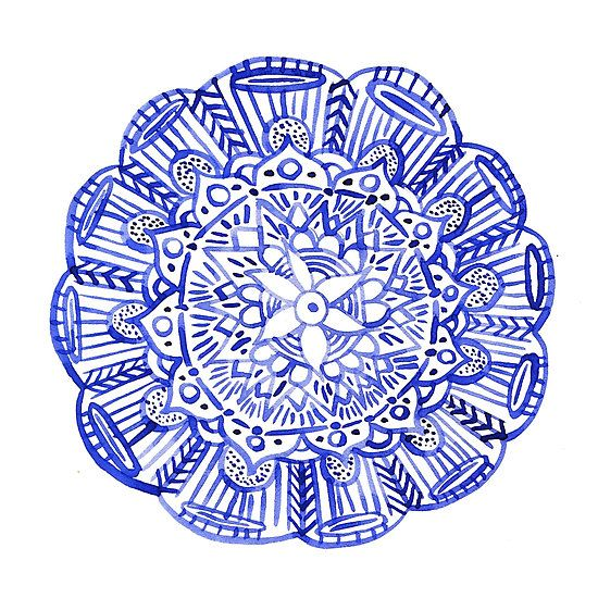 """""""Blue indian mandala"""" Photographic Prints by russiangirl   Redbubble"""