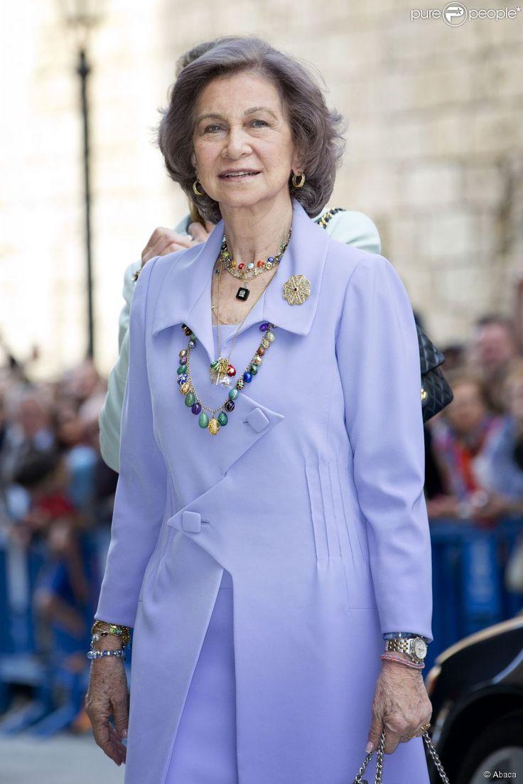 La reine Sofia lors de la messe de Pâques à Palma de Majorque le 20 avril 2014.