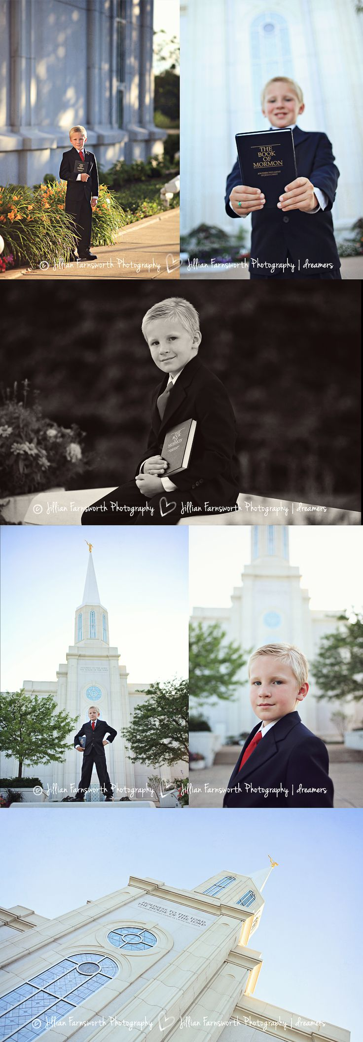LDS 8 year old baptism portraits by Jillian Farnsworth. Taken at Saint Louis temple. #mormon #baptism #eight
