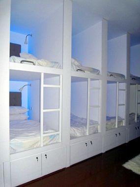 Hostel bunk cubbies - for guest room or kids room, perfect for sleep overs or alternative to bunk beds
