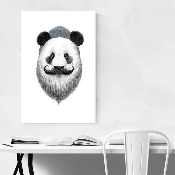 Bear Wall Art, Bear Print, Panda Wall Art, Panda Print, Humor Gifts, Humor Decor, Funny Prints, Funn