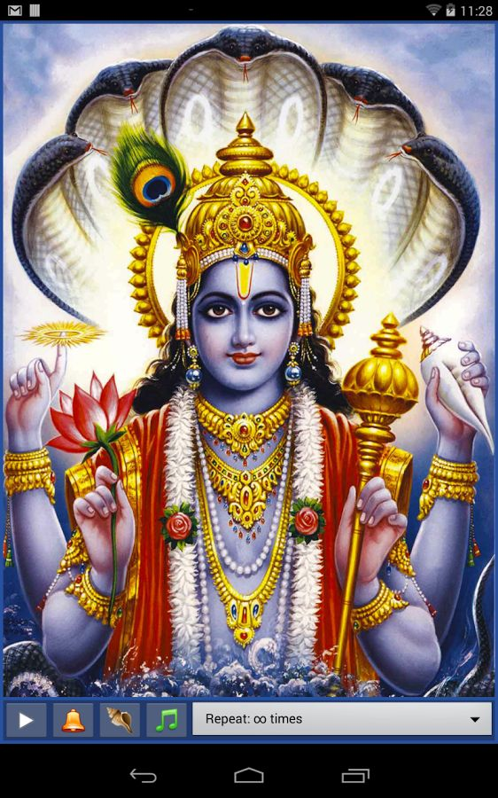 possibly this amount of vishnu on chest piece above garuda and between the heads of maa kali and maa durga