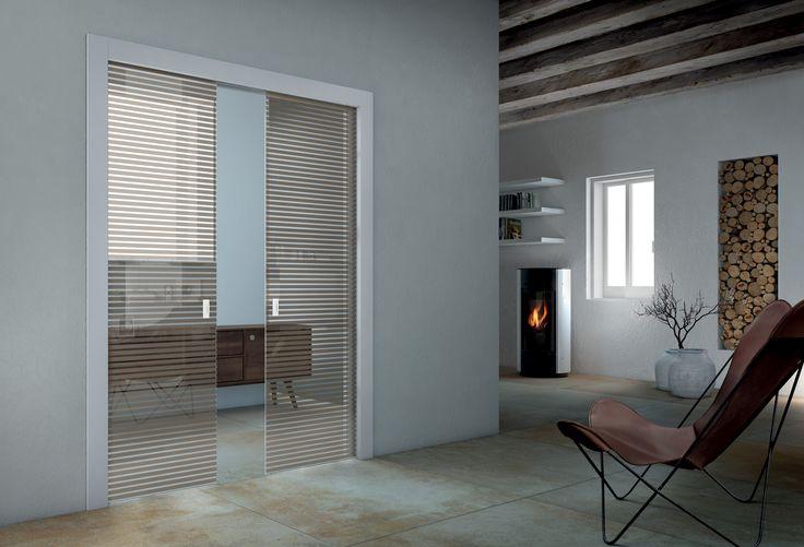 Oltre 1000 idee su porte di vetro su pinterest manopole - Porta scorrevole doppia ...