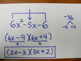 """I mentioned the """"airplane"""" method for factoring in a recent post. Someone asked me what that was, so I thought I'd share.   I have seen a lo..."""