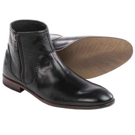 H by Hudson Songsmith Leather Ankle Boots (For Men))