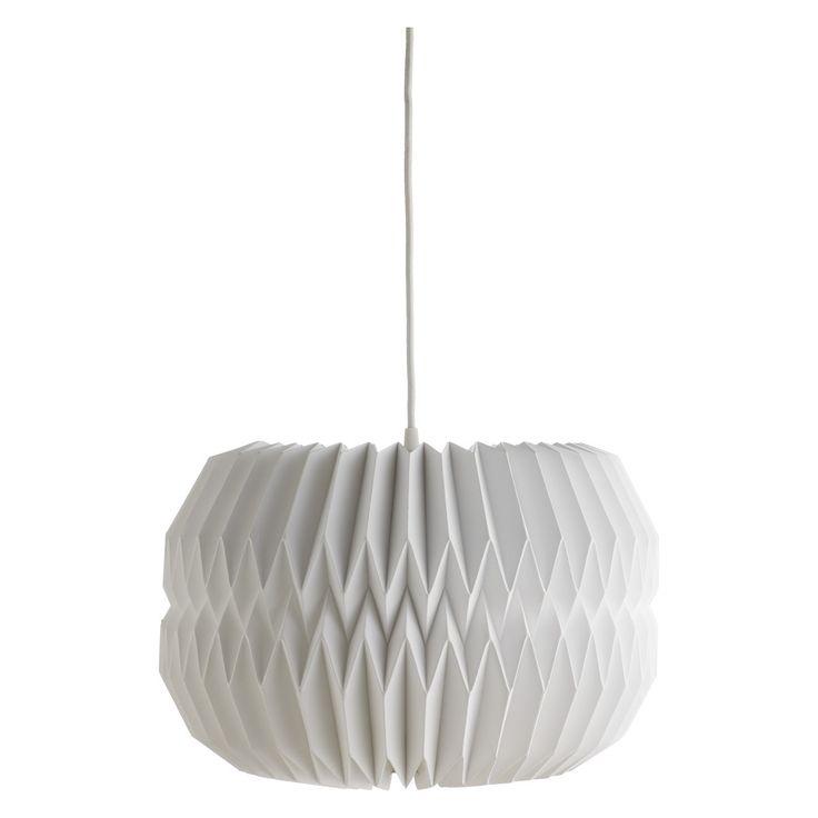 KURA Large white paper lamp shade D40 x H25cm | Buy now at Habitat UK
