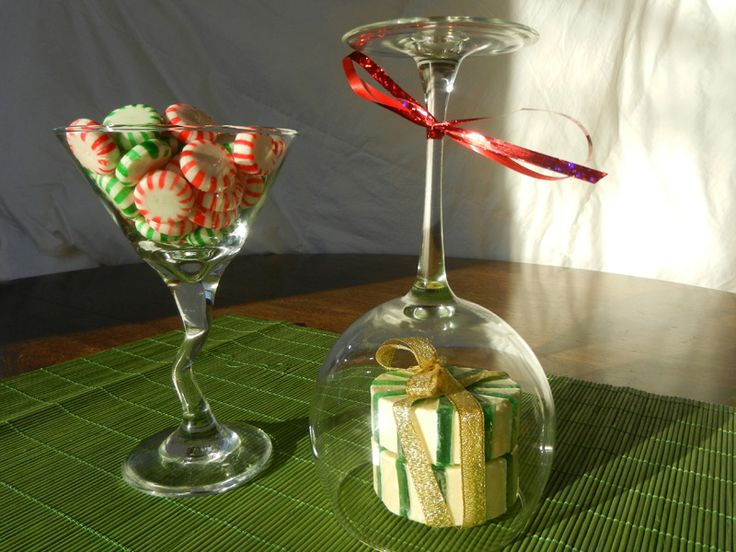 martini glass filled with candies