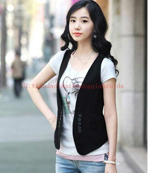 2015 New Women's Double-breasted Waistcoat Fashion Ladies Vest Tops 2colours #Unbranded