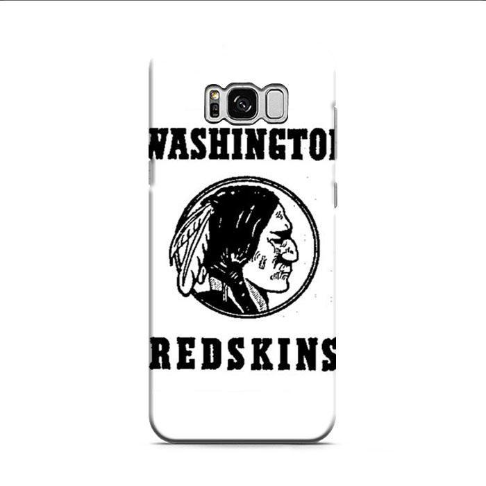 Washington Redskins Logo Black And White Samsung Galaxy S8 3D Case