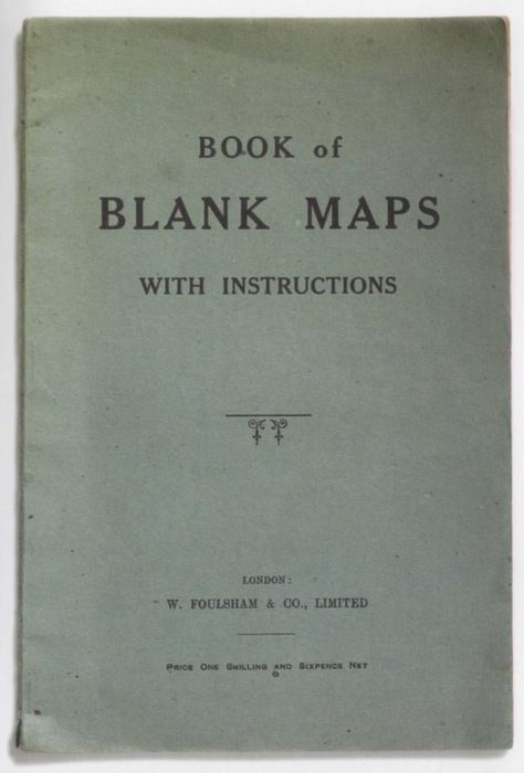 Book of Blank Maps with instructions.Worth Reading, Weird Book, Reading Poems Book, Instructions, Book Worth, Cartography, Book Covers, Book Amusingodd, Blank Maps