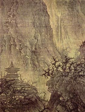 Boeddhistische tempel in Moutain - Li Cheng