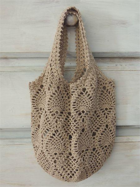 Crochet Net Bag : Crocheted Net Bag Crochet/Knit Pinterest