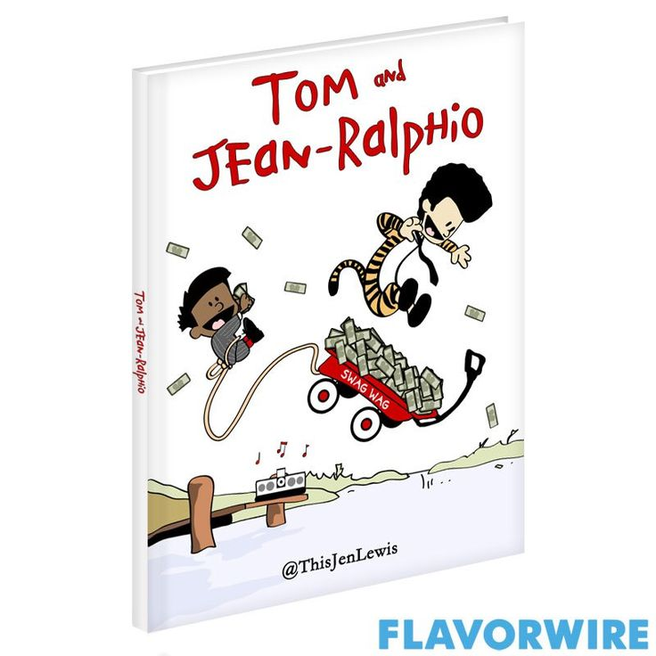"""Classic Children's Books Starring """"Parks and Rec"""" characters.  Tom and Jean-Ralphio as Calvin and Hobbes with a """"swag wag"""" full of cash= brilliance."""