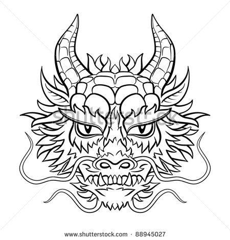 Best 25 dragon head tattoo ideas on pinterest dragon head original dragon head black and white vector illustration stock vector ccuart Images