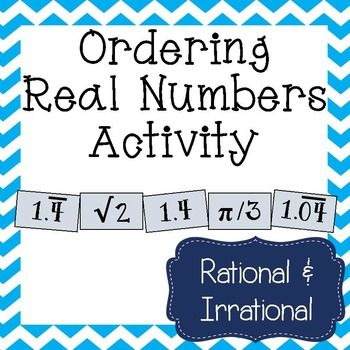 This would be great hands on practice for my students at comparing and ordering real numbers!  8.2D Order a set of real numbers arising from mathematical and real-world contexts.