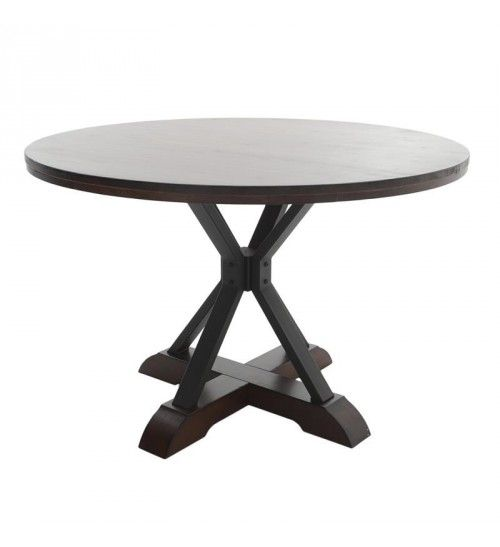 WOODEN ROUND TABLE IN BROWN COLOR 120X120X74_5