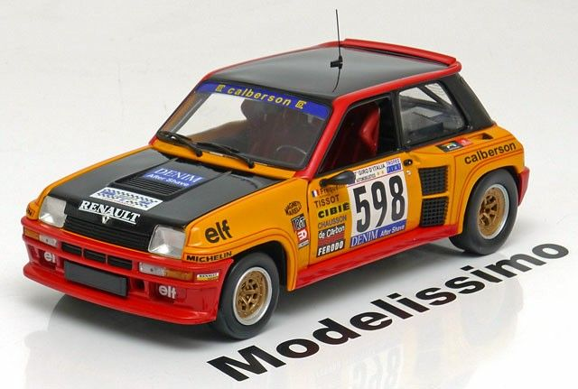 Renault 5 Turbo 1979, Rally Italien, No.598, Fréquelin/Andrié. Universal Hobbies, 1/18, No.4552, Limited Edition 1500 pcs. 30€