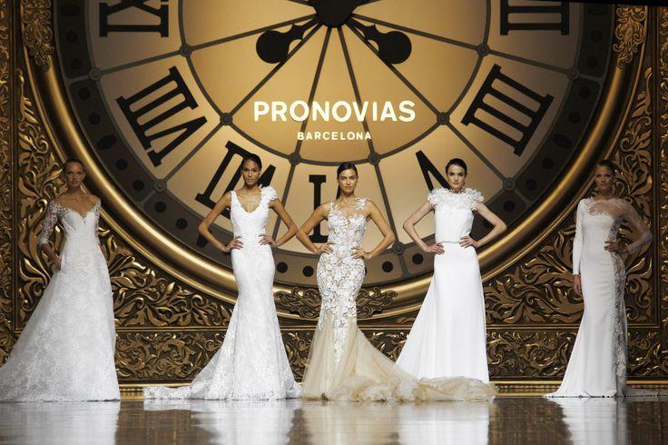 Romee Strijd, Cindy Bruna, Irina Sayk and Blanca Padilla for Pronovias at Barcelona Bridal Week 2016